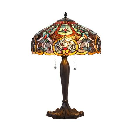 Chloe Lighting Tiffany Style Victorian Design 2-light Bronze Table Lamp (Tiffany Victoria)