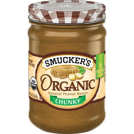 Smucker's Organic Chunky Peanut Butter, 16 oz ()