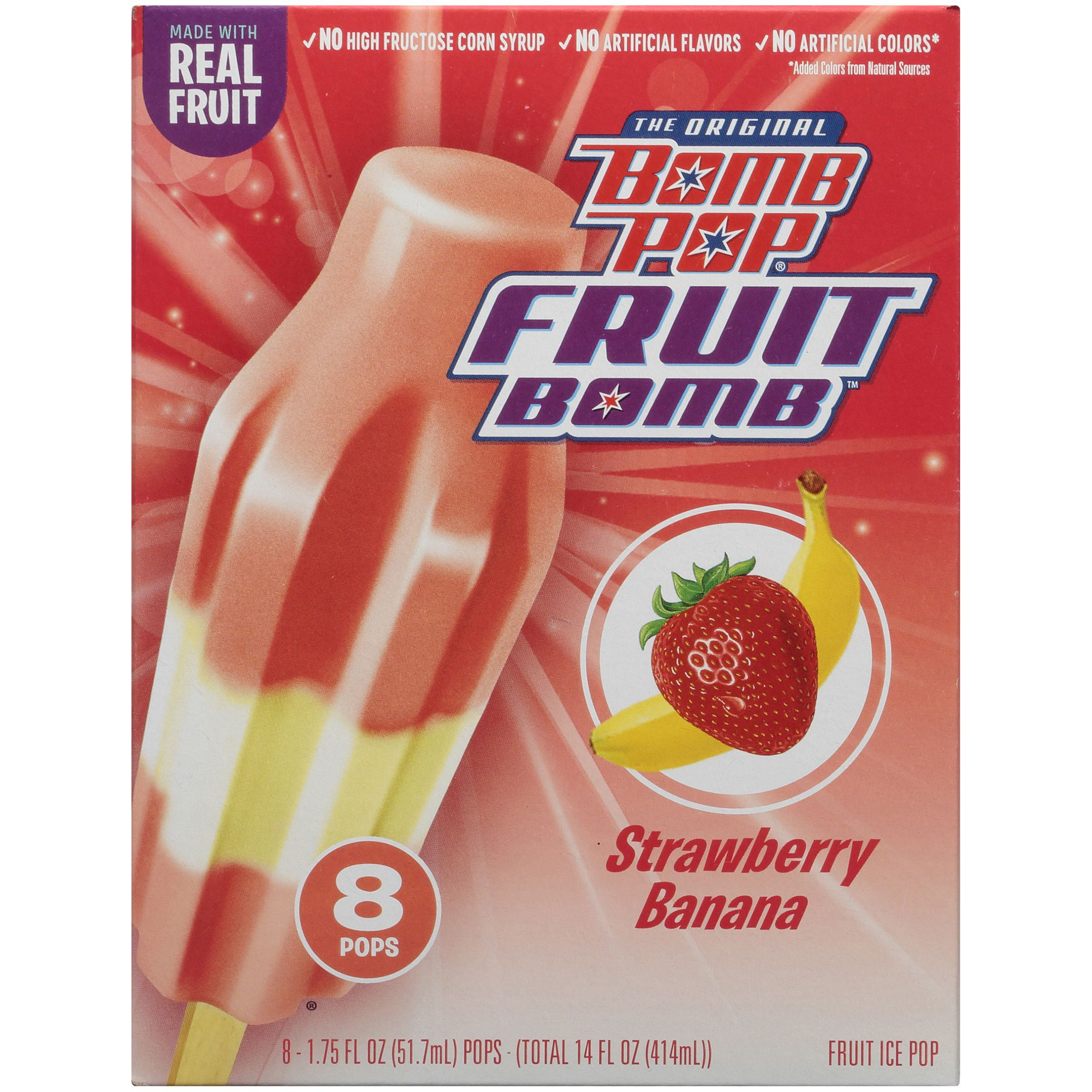 Bomb Pop Fruit Bomb Fruit Ice Pops Flavors Of Strawberry And Banana
