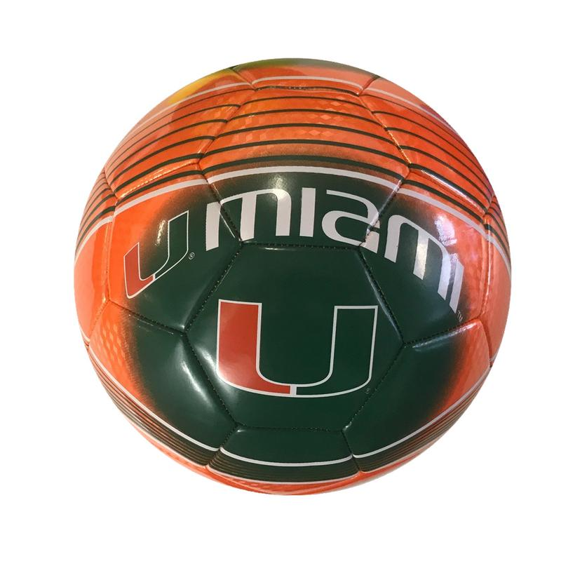 MIAMI HURRICANES Official Licensed Regulation Soccer Ball Size 5 by ICON Sports