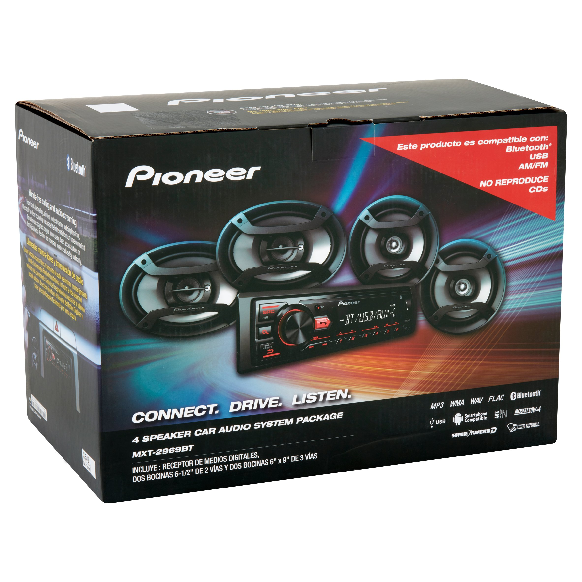 Pioneer 4 Speaker Car Audio System Package - Walmart.com