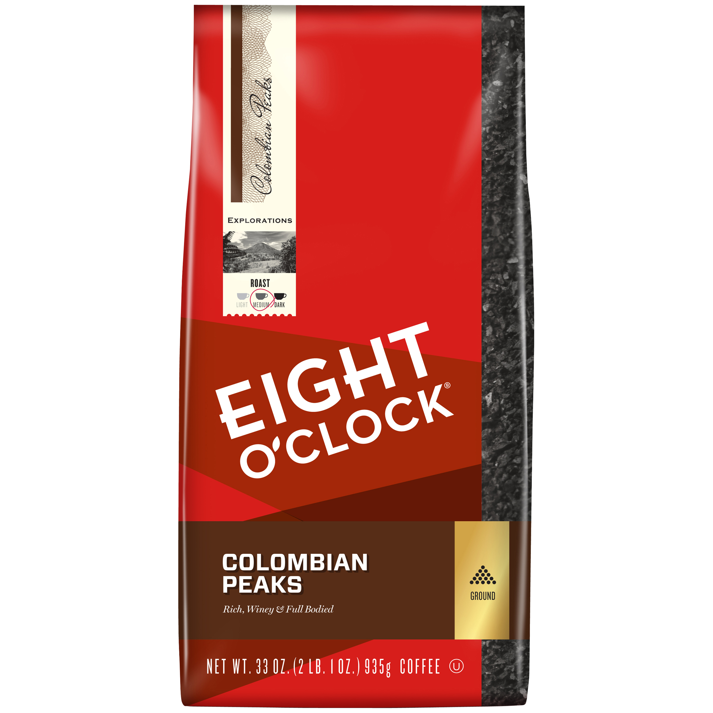 Eight O'Clock® 100% Colombian Peaks Ground Coffee 33 oz. Bag