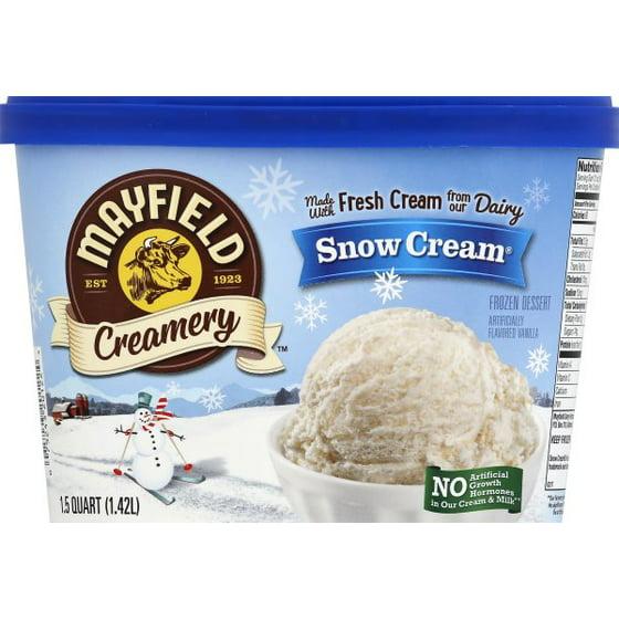 Mayfield Snow Cream Frozen Dessert Ice 15 Qt