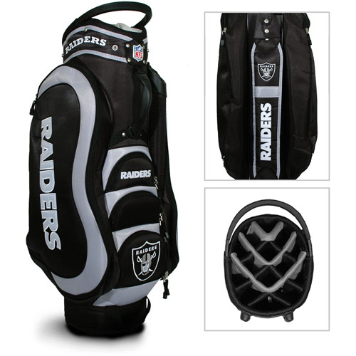 Team Golf NFL Oakland Raiders Medalist Golf Cart Bag
