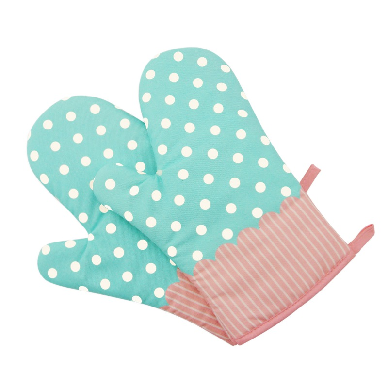 1PC Resistant Heat Proof Cotton Gloves Cooking Microwave Oven Mitts Kitchen Tool
