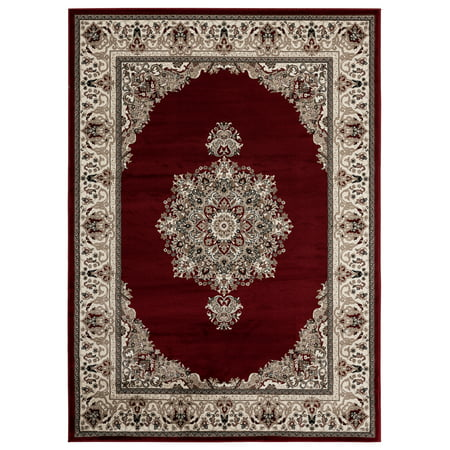3' Base - Lapis Rugs Area Rug 3x4 Antique Vintage Collection Oriental Low Pile Turkish Carpet Diamond ( 3' 3