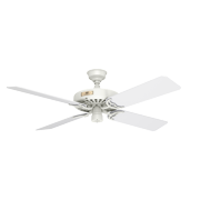 """Hunter 52"""" Hunter Original Damp Rated White Ceiling Fan with Pull Chain"""