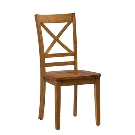 Maple Round Chair (Bowery Hill Wood X Back Dining Chair in Honey (Set of 2) )
