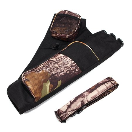 Bestller 3 Tube Deluxe Archery Hip Back Arrow Quiver Adjustable Waist Belt Bow Quiver Arrows Holder Bag Case for Shooting and Target