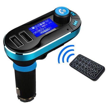 5in1 Wireless Bluetooth Car Music Player FM Transmitter Dual USB Car Charger Support SD/TF Card Music Control Hands-Free Calling for Smart Phone Tablets Mp3 Player Yallstore