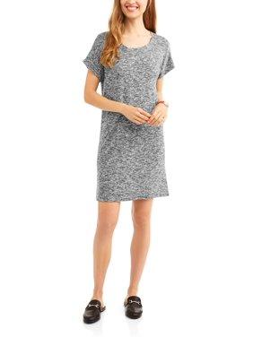 a85e5b619214 Product Image Women s Short Sleeve Sweater Knit T-Shirt Dress