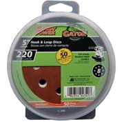 ALI INDUSTRIES 50-Pack 5-Inch 220-Grit Hook & Loop Sanding Disc 4340