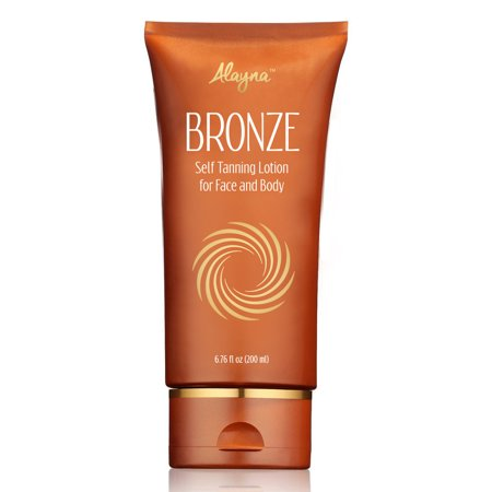 Body Lotion for Self-Tanning Your Face and Full Body, Streak Free Instant Shimmer, quick Dry, Sunless Bronzing Lotion for 100% Natural- looking Self