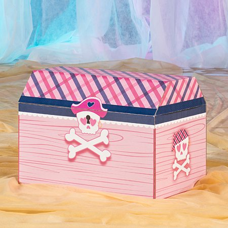 18 in. Preppy Pirate Treasure Chest Turquoise Treasure Chest