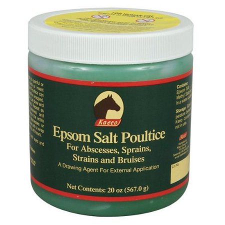 Epsom Salt Poultice, For use as a drawing agent to address abscesses,  infections and sole bruising  By Kaeco