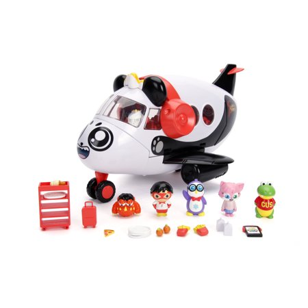 "Jada Toys Ryan's World Combo Panda's Airlines Playset 14"" 20pc + White"