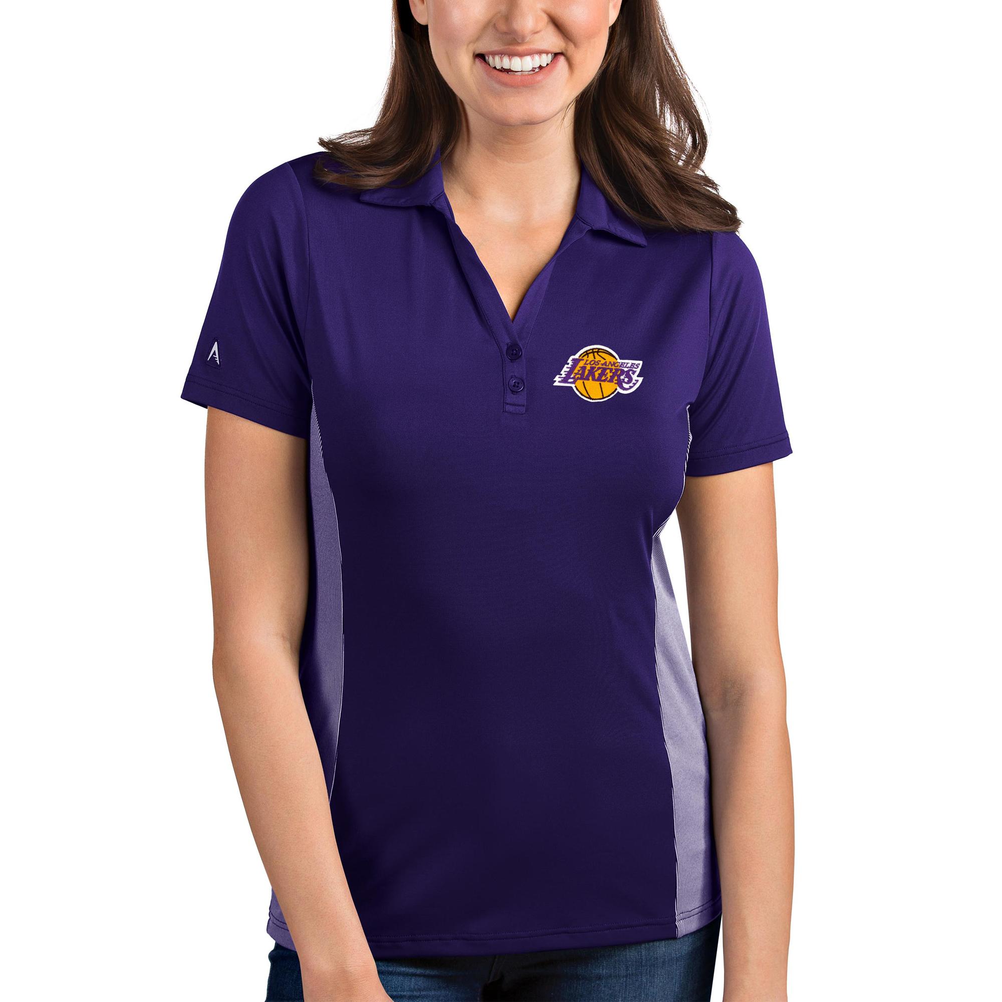 Los Angeles Lakers Antigua Women's Venture Polo - Purple/White