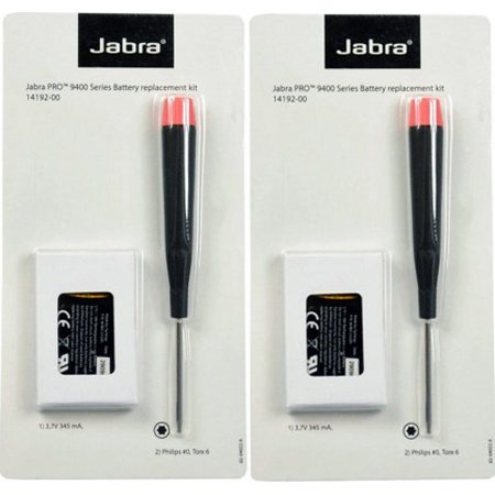 Jabra / GN Netcom 14192-00 Headset Battery f/ Jabra Pro 9400 Series (2 Pack)