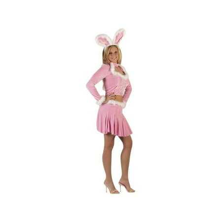 Adult Sexy Pink Mini Dress Bunny - Adult Pink Bunny Suit