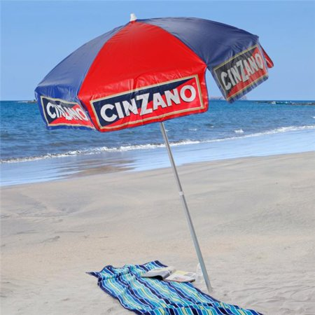 6 ft. Cinzano Vinyl Umbrella - Beach Pole
