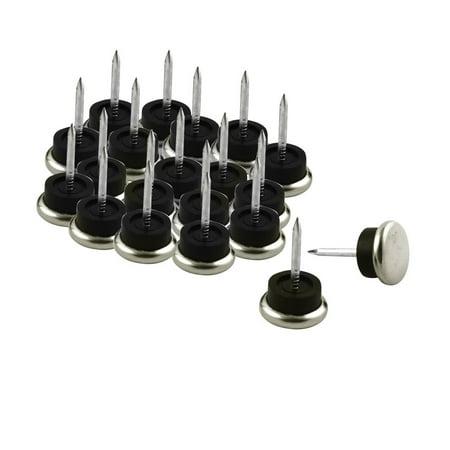 Furniture Chair Metal Glide Feet Leg Floor Protector Nails 2.3cm Dia 20pcs ()