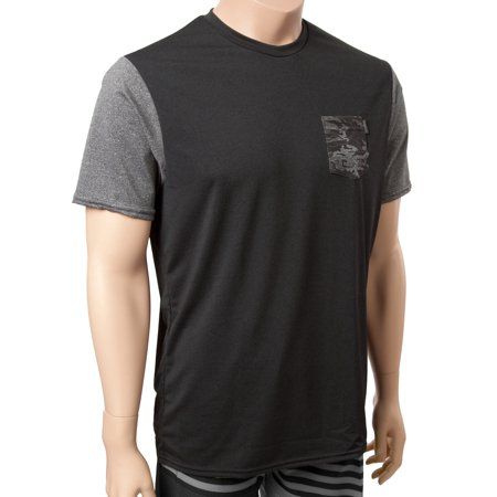 O'Neill Mens Heathered Graphic Pocket Surf Tee L Black/graphite