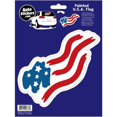 Painted usa flag car sticker