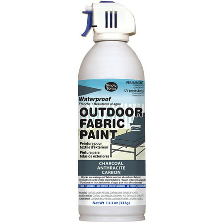 Outdoor Spray Fabric Paint 13.3oz-Charcoal](Outdoor Fabric Paint)