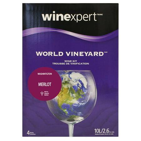 Winexpert World Vineyard Washington Merlot Wine Kit with Grape Skins