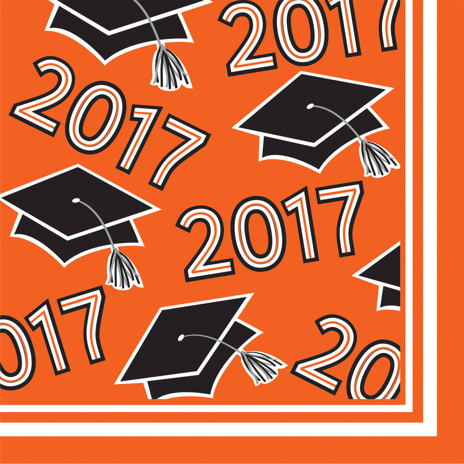 Class of 2017 Orange Beverage Napkins, 36pk by CREATIVE CONVERTING