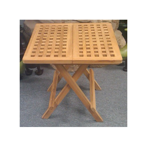 D-Art Collection Folding  Solid Wood Bistro Table