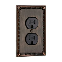 Richelieu BP862 Single Traditional Duplex Outlet Switch Plate from the Decora Collection