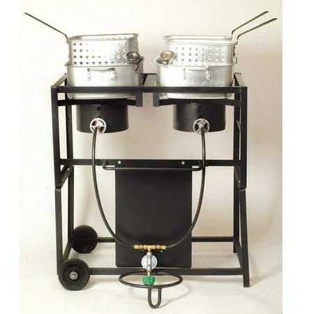 King Kooker  Kkdff30t 30   Dual Outdoor Propane Frying Cart