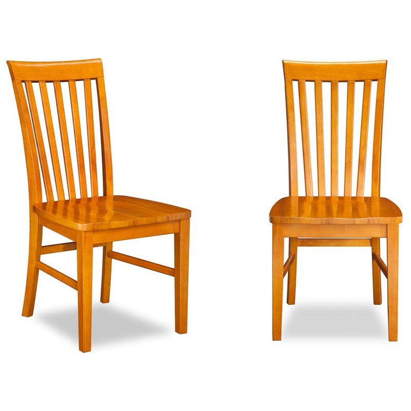 Atlantic Furniture Mission Dining Chairs in Caramel Latte (Set of 2)