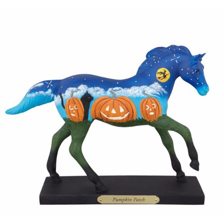 The Trail of Painted Ponies Pumpkin Patch Halloween Figurine Horse 4041002 New](Spray Painted Halloween Pumpkins)