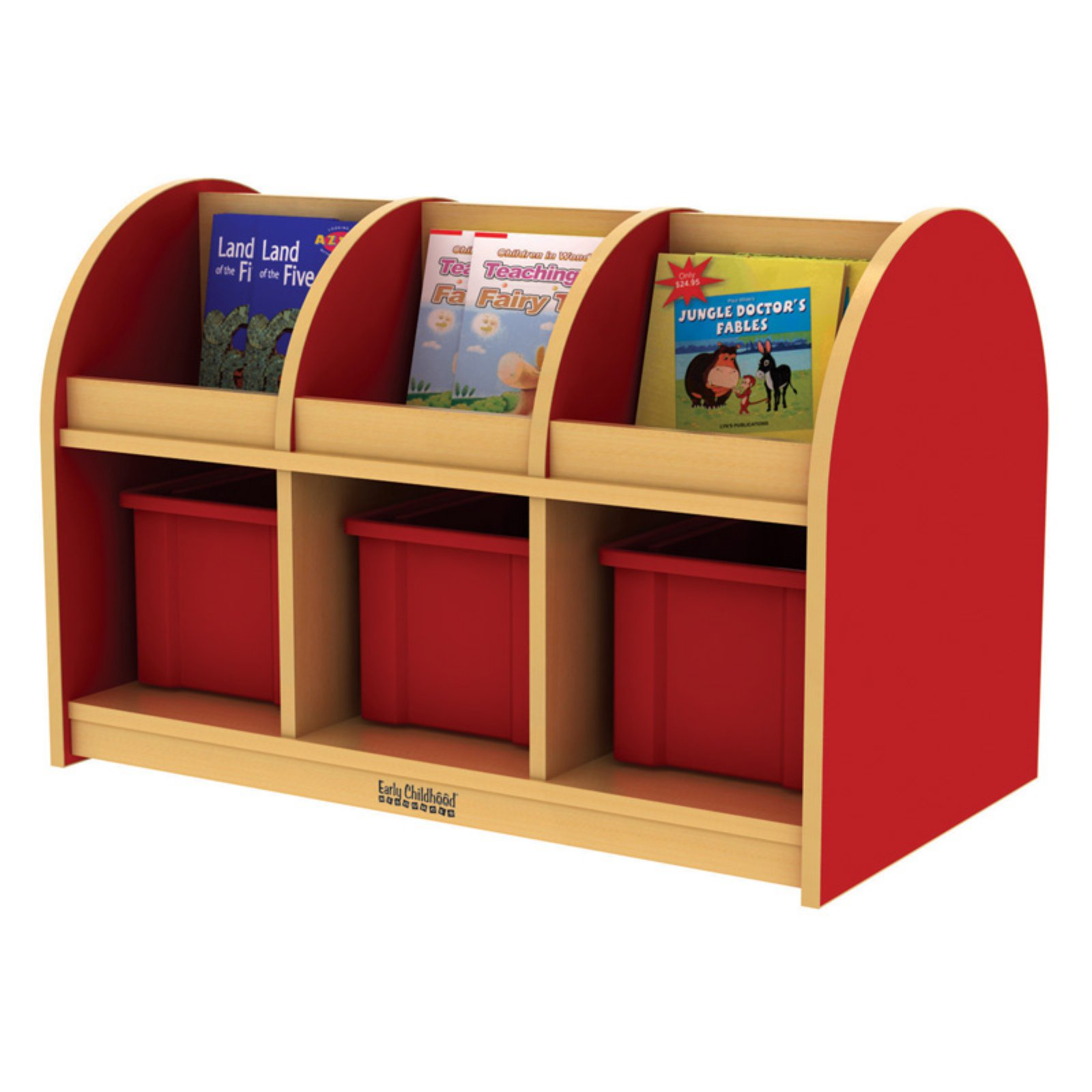 ECR4KIDS Toddler Book Storage Island