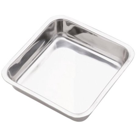 7.5-Inch Stainless Steel Cake Pan, Square, Measures: 7.5/19cm inside top, 7/18cm inside bottom, 1.5/4cm tall/deep. By - Cross Cake Top