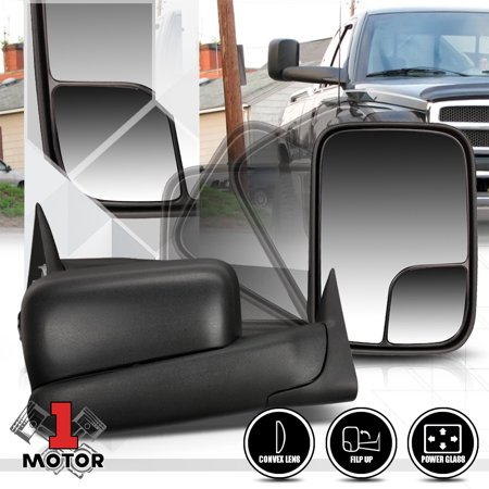 [Pair]Power Adjust Flip Up Foldable Towing Side Mirror for 94-97 Dodge Ram 1500 95 96