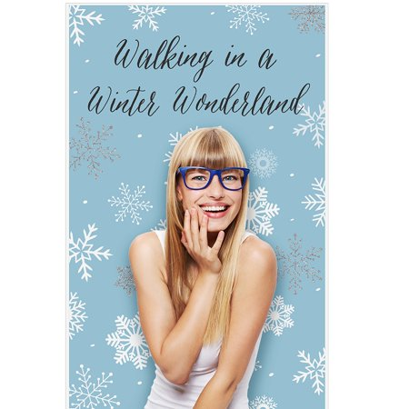 Winter Wonderland - Snowflake Holiday Party & Winter Wedding Photo Booth Backdrop - 36