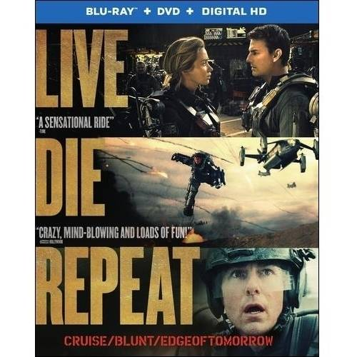 Live Die Repeat: Edge Of Tomorrow (Blu-ray + DVD + Digital HD With UltraViolet) (With INSTAWATCH)