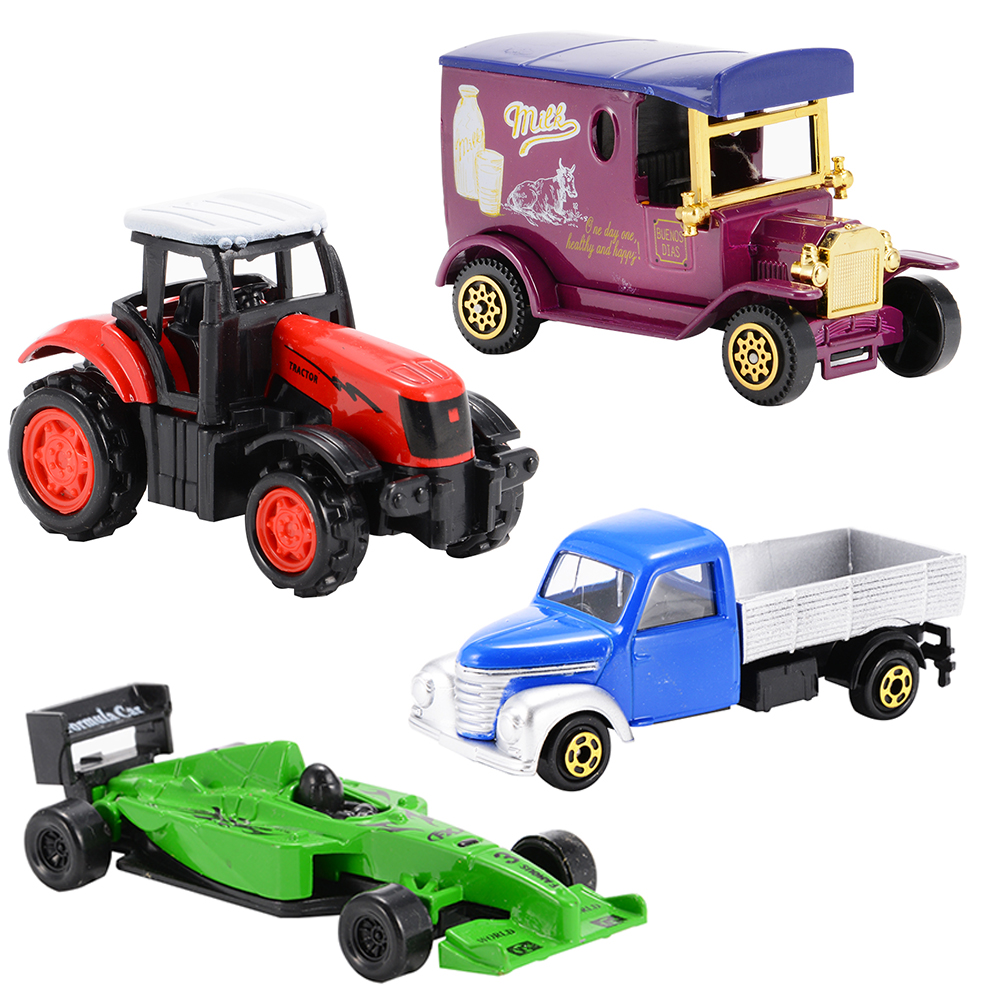 4PCS Diecast Metal Car Models Play Set Children Toy Cars