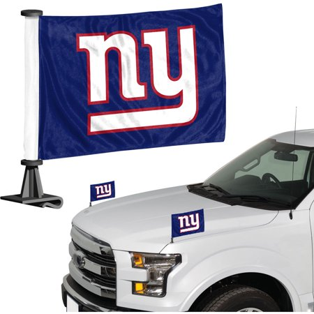 - New York Giants Auto Ambassador Flag Set - No Size