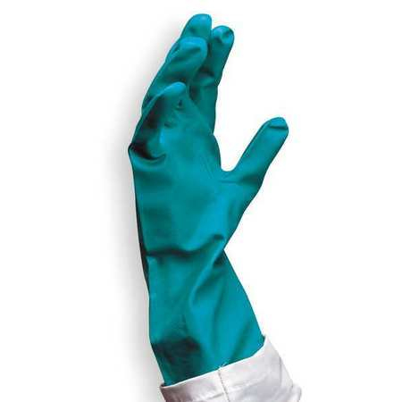 Condor 6JF98 9 Green Nitrile Chemical Resistant Gloves ()