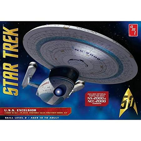 AMT 843 Star Trek USS Excelsior 1/1000 Scale Plastic Model Kit 144 Scale Plastic Kit