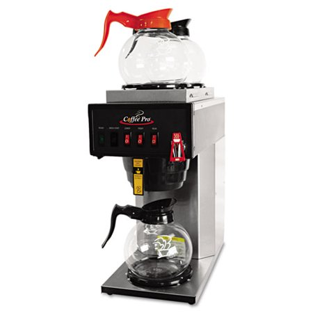 Coffee Pro Brewer - 36 Cup(s) - Stainless Steel - Stainless Steel, Glass