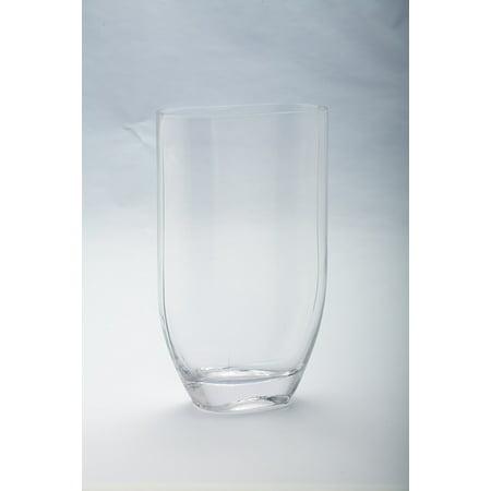 Diamond Star Glass 64004 65x3x10 Clear Tapered Oval Vase
