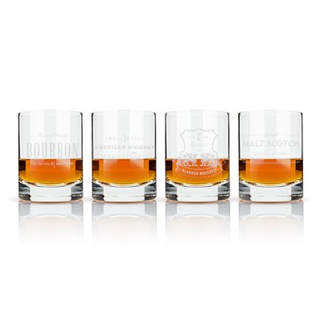 Admiral™ Etched Whiskey Label Crystal Tumblers by Viski