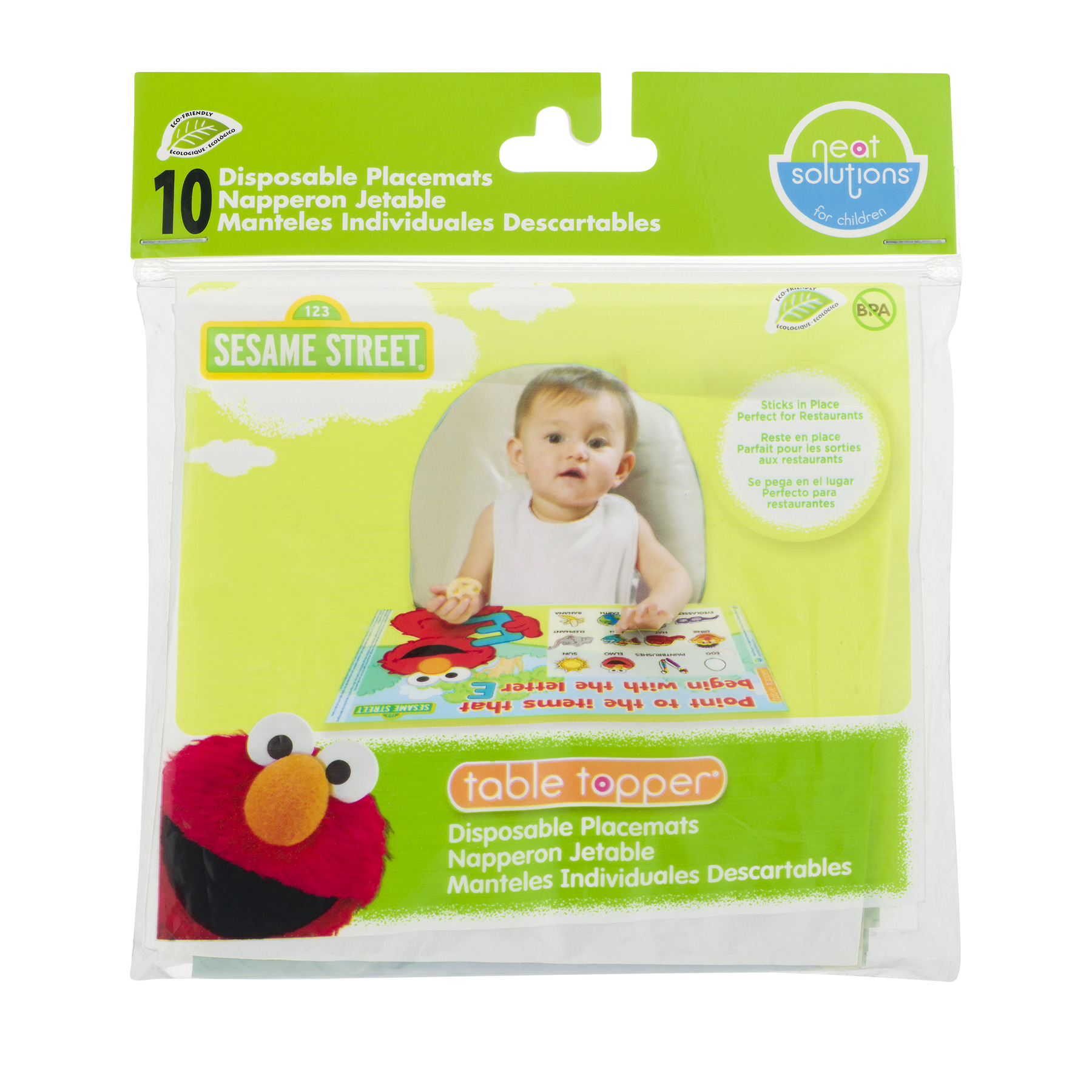 Neat Solutions Sesame Street Disposable Placemats - 10 CT10.0 CT