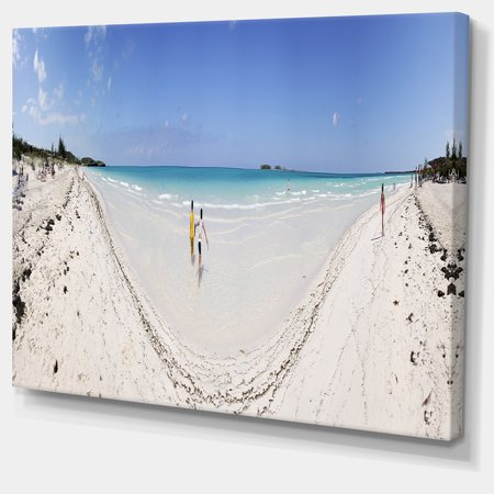 Cayo Coco Tropical Beach Panorama - Modern Seascape Canvas Artwork - image 2 de 3