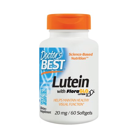 Doctor's Best Lutein with FloraGLO, Gluten Free, Vision Support, 60